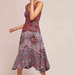 Anthropologie Maeve Floral Boho Violette Dress 16